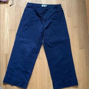 Old navy wide leg cropped pants
